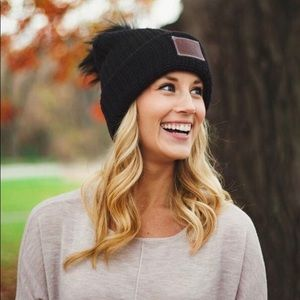 6218a6b7289 Accessories - Love Your Melon Black Pom Beanie